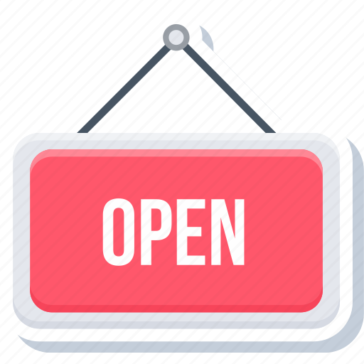 board, market, open, sign, store icon