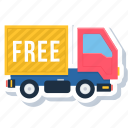 delivery, free, shipping, transport, transportation, truck, van icon
