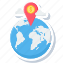 bank location, cloud, country, global, gps, location icon