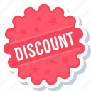 discount, label, offer, sign, sticker icon