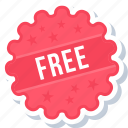 free, label, sign, sticker icon