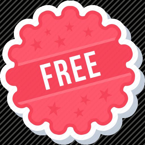 free, label, sign, sticker icon
