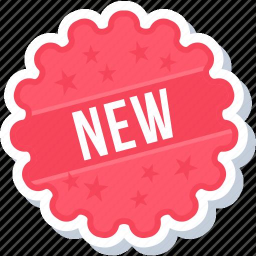 label, new, sign, sticker icon