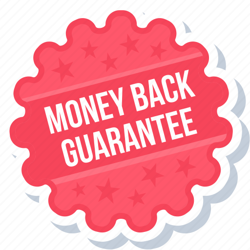 guarantee, label, money back, sign, sticker icon