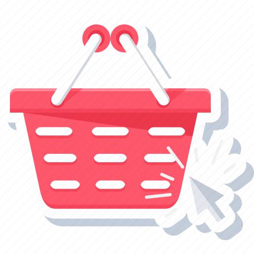 basket, cart, click, online, purchase, purchased icon