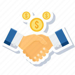 agreement, business, deal, finance, handshake, meeting icon