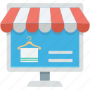 ecommerce, internet shopping, mobile business, online store, web store icon