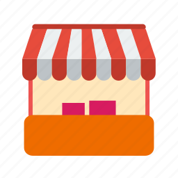 exhibition, food, market, stall, stalls, stand, store icon