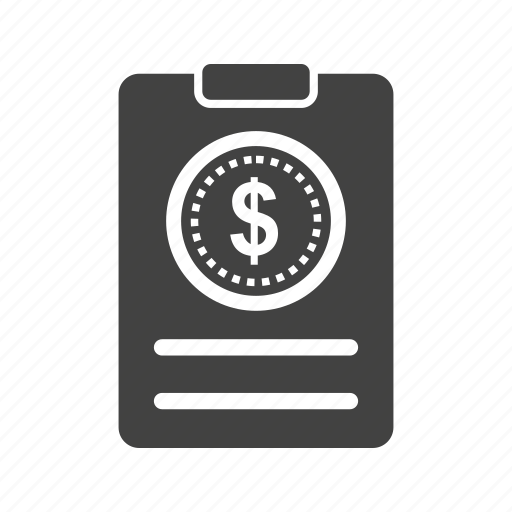 bill, billing, bills, invoice, payment, receipt icon