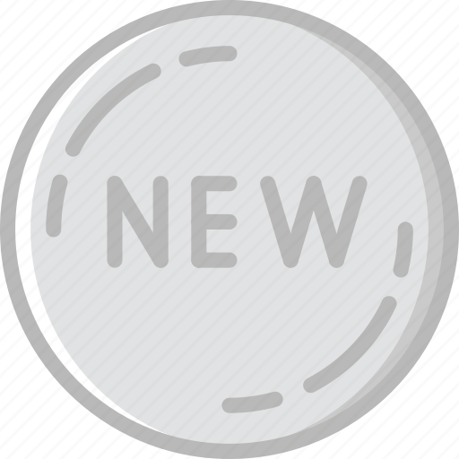 badge, business, new, shop, shopping icon