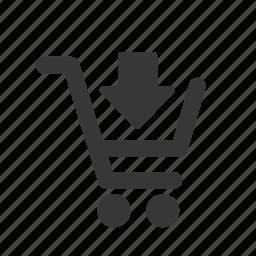add to cart, e-commerce, raw, shopping, shopping cart, simple, web shop, web store, webshop, webstore icon