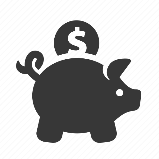 e-commerce, piggy bank, raw, savings, shopping, simple, web shop, web store, webshop, webstore icon