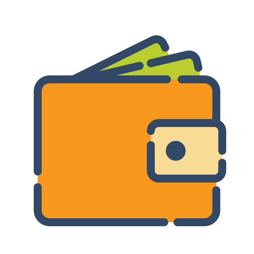 online, shop, shopping, wallet icon