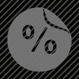 label, percentage, price, sale, shopping, sticker, tag icon
