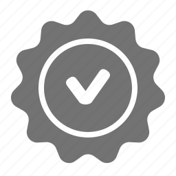 check, label, quality, seal, tag, verify, warranty icon