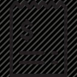 bill, invoice, price icon