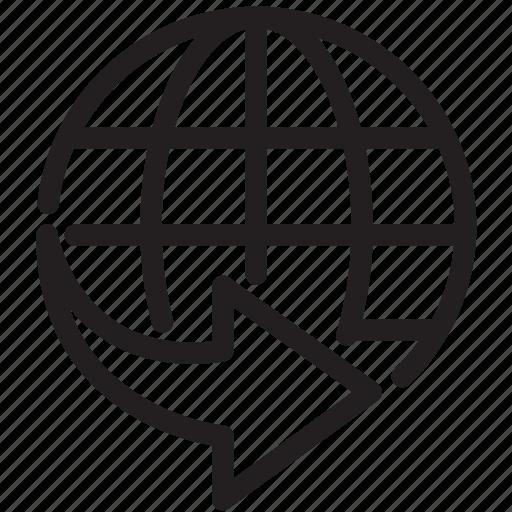 global, international, shipping, worldwide icon