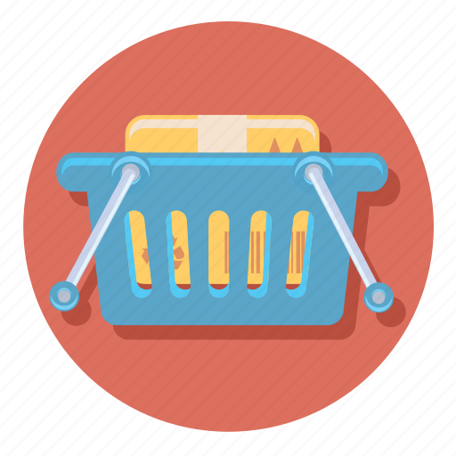 basket, ecommerce, full, online, shipping, shopping icon