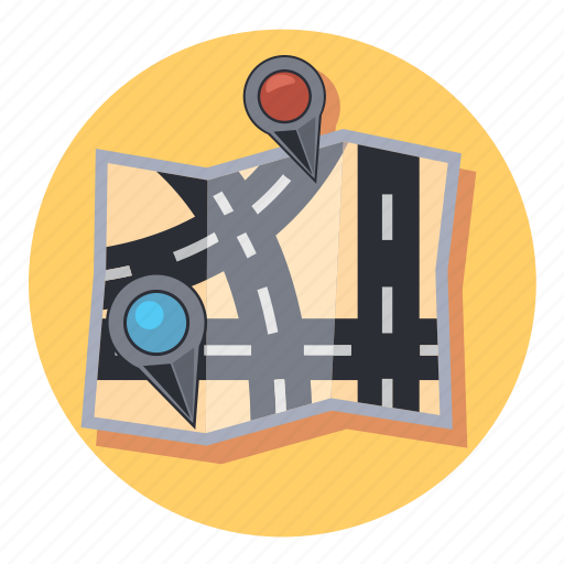 Map, gps, location, navigation, pin, pointer icon - Download on Iconfinder