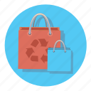 bag, online, paper, recycle, shipping, shop, shopping icon