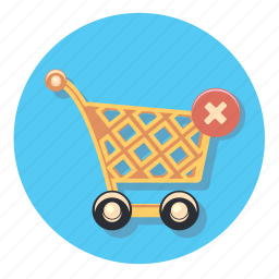 basket, delivery, shopping, store, trolley, wheels icon