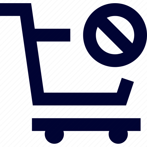Cart, disable cart, ecommerce, forbidden cart, shop, shopping icon - Download on Iconfinder