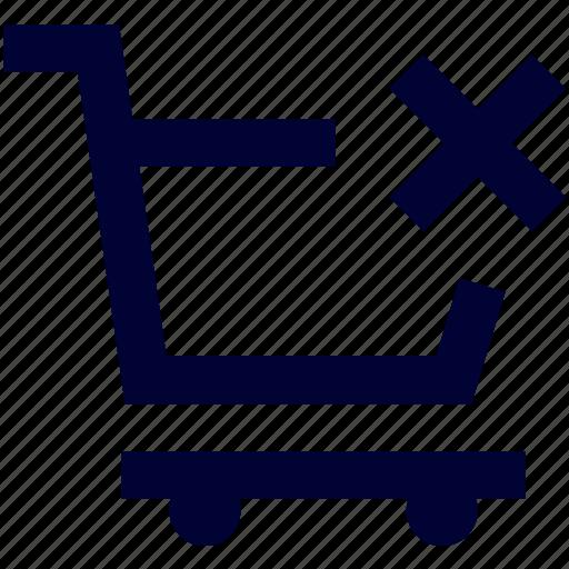 bag, cart, cart error, ecommerce, shop, shopping icon