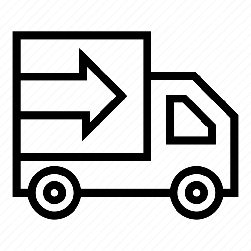delivery, delivery service delivery truck, delivery van, package delivery, shipping, shopping icon