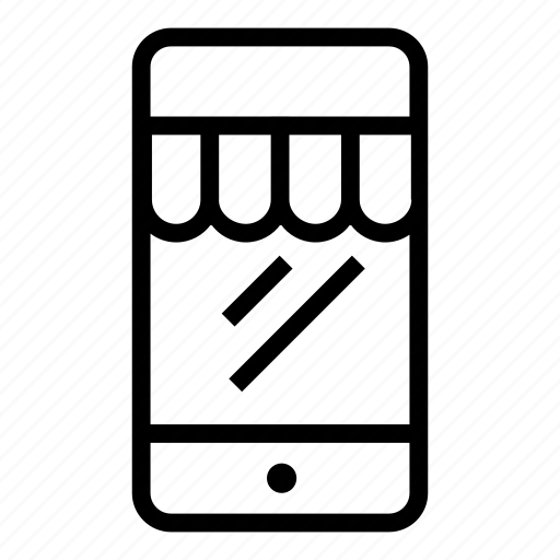 mobile shopping, mobile store, online shop, phone, shop, shopping icon