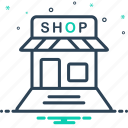 retail, shop, store icon