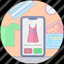 clothing app, m-commerce, mobile app, mobile online store, mobile shopping app, shopping app icon
