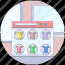clothing website, ecommerce, online clothing, online shop, online shopping, online store, shopping website icon