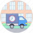delivery on time, delivery services, fast delivery, logistic delivery, on time delivery, quick delivery icon
