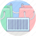 barcode, barcode reader, bill scanner, code scanner, product scan, serial scanner, shopping scan icon