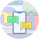 chatting, communication, conversation, mobile chat, online chat icon