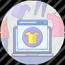 clothing website, ecommerce, online shop, online shopping, online store, shopping website icon