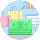assets, banknotes, capital, currency, money, money cash icon