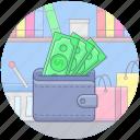 cash, cash payment, cash wallet, shopping payment, wallet icon