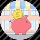 money box, pig saving, piggy bank, saving account, saving money icon