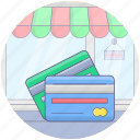 bank cards, cash cards, credit cards, debit cards, smart cards icon