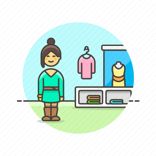 apparel, buy, clothes, shirt, shopping, store, woman icon