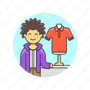 apparel, buy, clothes, man, shirt, shopping, store icon