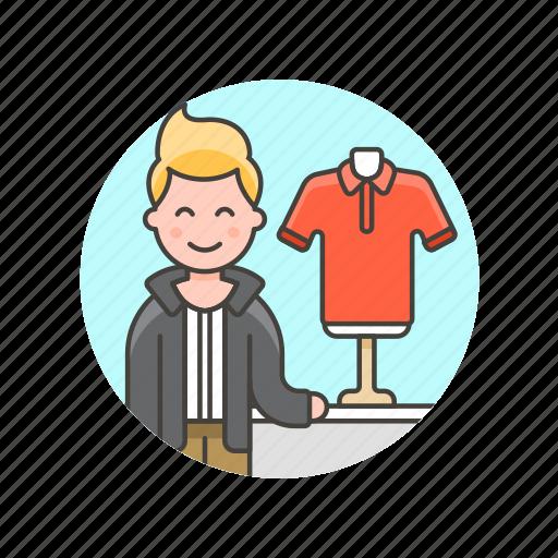 apparel, buy, clothes, man, shirt, shopping, store icon