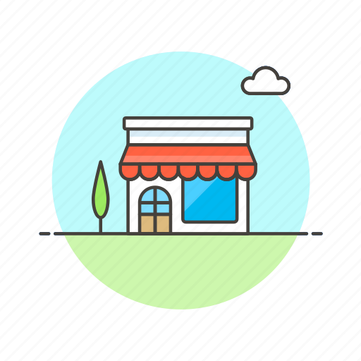 building, convenience, shopping, small, store, supermarket icon