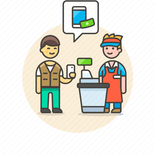 apple, cash, cashier, digital, money, pay, shopping icon