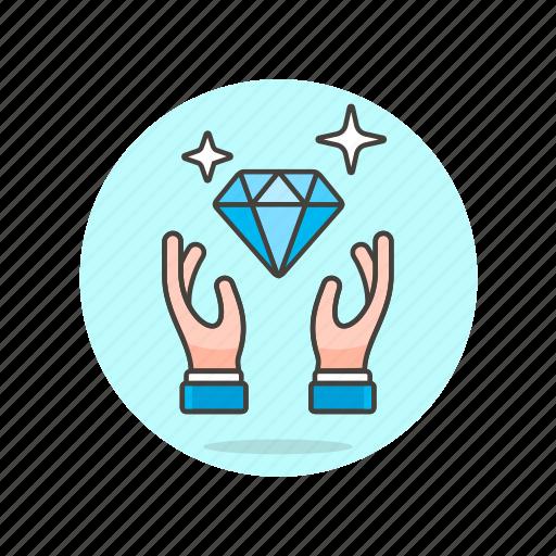 buy, diamond, gesture, hand, jewelry, luxury, shopping icon