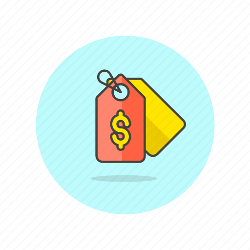 buy, currency, dollar, label, price, shopping, tag icon