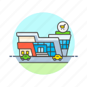 cart, grocery, parking, shopping, store, supermarket icon