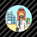 arab, building, buy, cash, man, money, shopping icon