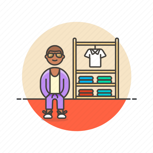 apparel, buy, clothes, man, shopping, store, wear icon